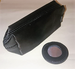 Small black zip up cosmetic bag with mirror (Code 1930)